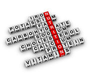 Nutrition Ingredient. (cubes crossword series royalty free illustration