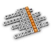 Nutrition Ingredient. (3D crossword orange series Stock Photography