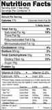 Nutrition label Stock Images