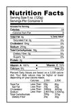 Nutrition Label. Black and White Food Health Facts Label Royalty Free Stock Photos