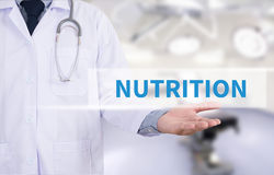 NUTRITION. Medicine doctor hand working Royalty Free Stock Photo