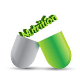 Nutrition pill illustration design Royalty Free Stock Images