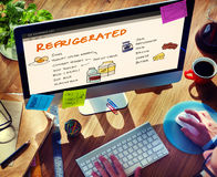 Nutrition Refrigerated Grocery Shopping List Concept Royalty Free Stock Photo