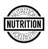 Nutrition rubber stamp Stock Photography
