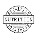 Nutrition rubber stamp Stock Photos