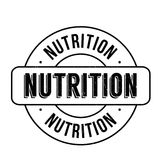 Nutrition rubber stamp Royalty Free Stock Image