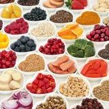 Nutrition saine de nourriture pour des bonnes santés Photographie stock