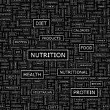 NUTRITION. Seamless pattern. Word cloud illustration stock illustration