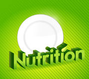 Nutrition sign and food plate illustration design Royalty Free Stock Image