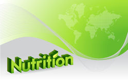 Nutrition sign illustration design Royalty Free Stock Photo