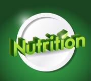 Nutrition sign illustration design Stock Images