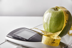 Nutrition weight control concept front Royalty Free Stock Photography