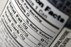 Nutritional Facts Label royalty free stock image