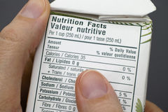 Nutritional facts Royalty Free Stock Photography