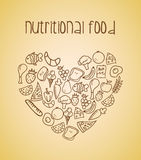 Nutritional food Stock Photography