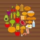 Nutritional food design Stock Photo