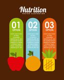 Nutritional food design Stock Photography