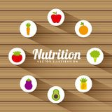 Nutritional food design Stock Images