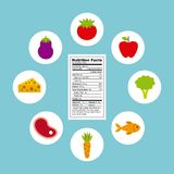 Nutritional food design Stock Photos