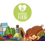 Nutritional food fresh diet products. Vector illustration eps 10 Royalty Free Stock Photos