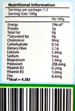 Nutritional label info. Know what you eat! - An image showing the nutrition facts and bar code on the paper packaging label of a packet of organically grown Royalty Free Stock Photos