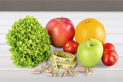 Nutritional supplement. Capsule food fruit healthy eating healthy lifestyle vegetable Stock Photography