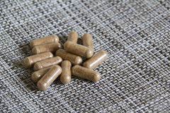 Nutritional Supplement Pills Royalty Free Stock Photography