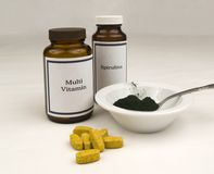 Nutritional supplements Stock Photos