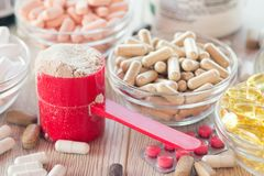 Free Nutritional Supplements Royalty Free Stock Image - 99734536