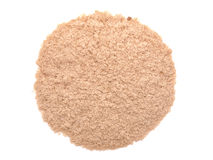 Nutritional yeast (deactivated yeast) isolated on white. Nutritional yeast isolated on white background Stock Image