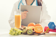 Nutritionist doctor woman. Close up Stock Photography