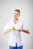 Nutritionist female Doctor Royalty Free Stock Images