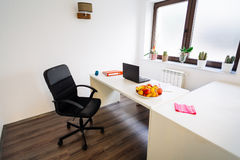 Nutritionist office. Indoors of spacious nutritionist doctor office Royalty Free Stock Image