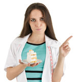 Nutritionist Saying No to Cake Stock Image