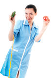 Nutritionist with vegetables Royalty Free Stock Photo