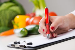 Nutritionists desk Stock Image