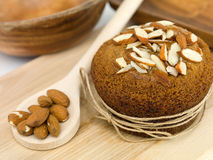 Nutritious almond muffin Royalty Free Stock Photography