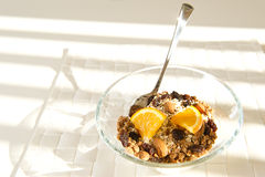 Nutritious bowl of muesli Stock Photos