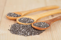 Nutritious chia seeds on a  spoon Stock Photography