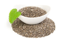 Nutritious chia seeds on a white background clipping path Stock Photography