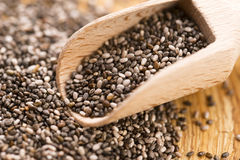 Nutritious chia seeds Stock Image