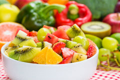 Nutritious fruits salad for dieting Royalty Free Stock Photography