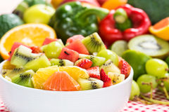 Nutritious fruits salad for dieting Stock Images