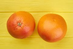 Nutritious healthy grapefruits, top view. Royalty Free Stock Image