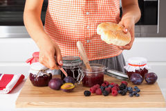 Nutritious multifruit homemade jam Royalty Free Stock Photo