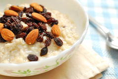 Nutritious Oatmeal For Breakfast Stock Photography