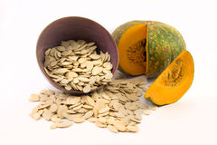 Nutritious pumpkin and seeds Stock Image