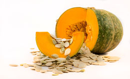 Nutritious pumpkin and seeds Royalty Free Stock Photos
