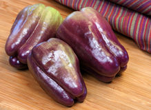 Nutritious Purple Bell Peppers Royalty Free Stock Images