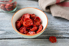 Nutritious sun dried tomatoes Stock Photography